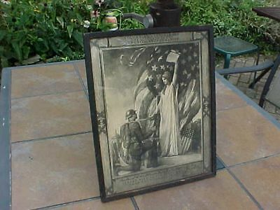 Original Wwi Framed Print / Accolade Named To 77Th Div Lost Battalion Soldier