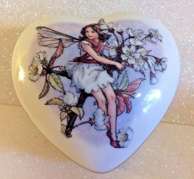 Flower Fairy Cecily Barker Heart Trinket Box Plays Memory