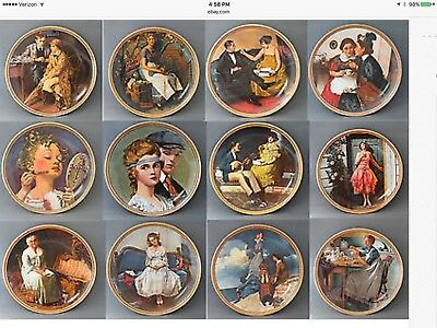 Complete Set Lot 12 NORMAN ROCKWELL Knowles REDISCOVERED WOMEN Series Plates