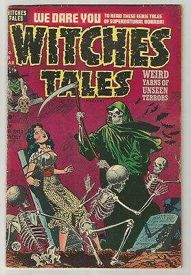 WITCHES TALES # 8  Classic Grimm Reaper & graveyard bondage cover by Lee Elias!