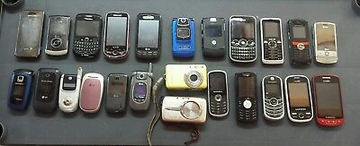 Lot 10 Cell Phones Samsung Motorola LG Cricket at&t Smart Flip Repair Parts