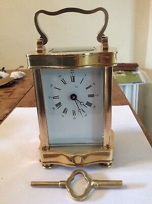 L'Epee French Carriage Clock in Serpentine Case