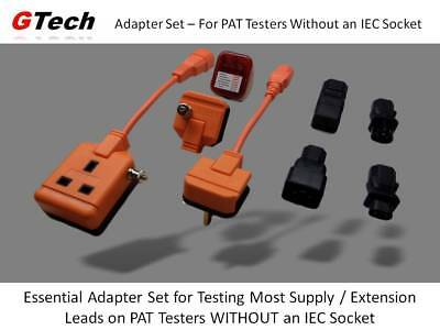 Full Set - 13A / IEC Extension Lead PAT Adapters - For Test WITHOUT IEC Socket
