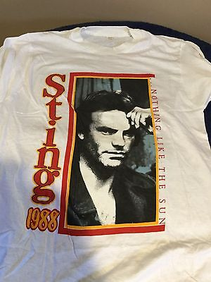 Sting Shirt Vintage tshirt 1988 NOthing Like The Sun Tour concert tee rock 1980s