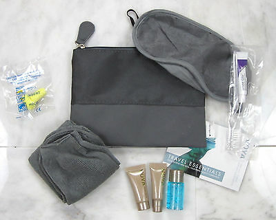 AER LINGUS Ireland Airline Gray Zippered Amenity Travel Kit Brand New Unused