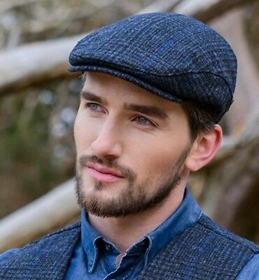 MUCROS WEAVERS IRISH Trinity Men Irish Flat Cap Hat aran Charcoal ... a268f3cebb69
