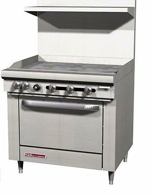"S-Series, With Griddle (No burners), Standard Oven , 36"" wide, Southbend S36D-3G"