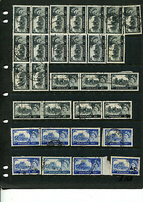 Gb  Stamp Collection Of One Pound & 10/-  Castles Etc Watermarks ? High Cat.val
