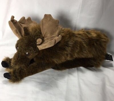 "Ditz Designs The Hen House 15"" Decorative Plush Moose Lying Down A8"