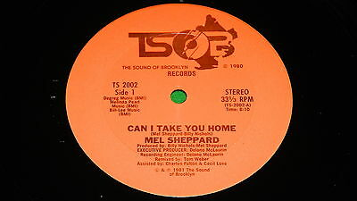 "MEL SHEPPARD : Can I take you home - Original US issue 1981 12"" single EX   #9B2"