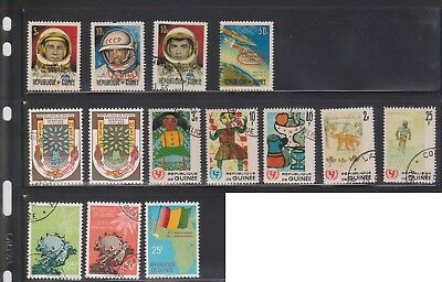 (U32-18) 1960-80 Republic of guinea mix of 70 stamps valued to 50F (J)