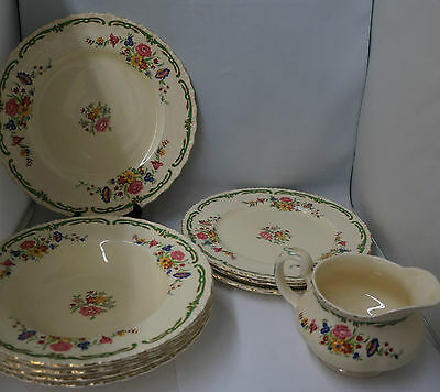 Vintage Grindley The Elsa Lot of 9 Assorted Dishes England Pretty Florals