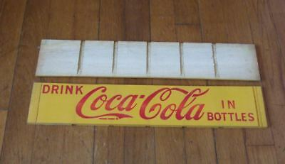 1940s Coca-Cola replacement panel for 24 bottle wooden crate~unused