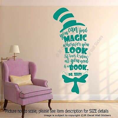 You can find Magic - Dr. Seuss Quote Creative Nursery Wall Art Stickers Decals