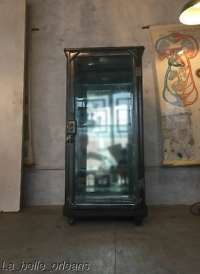 ANTIQUE INDUSTRIAL 19THc MEDICAL HOSPITAL / ASYLUM DRUGS CABINET