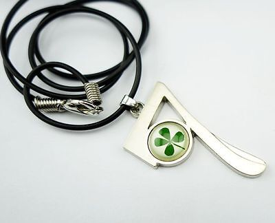 vogue design real green four leaf clover stone style pendants mm001