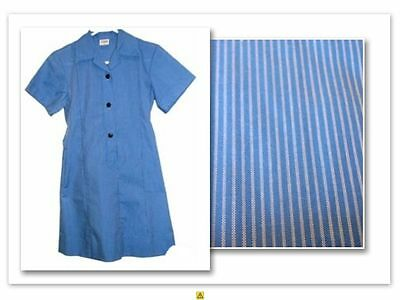 BNWT SIZE 14 CHEST 86cm GIRLS SCHOOL DRESS UNIFORM -  ROYAL / LT BLUE PINSTRIPE