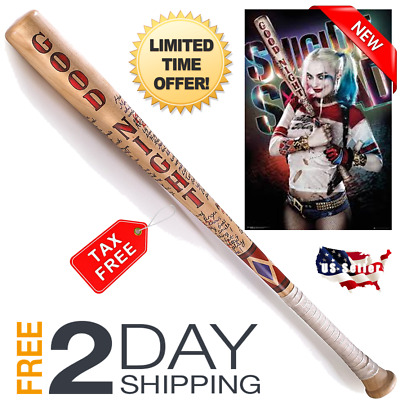 Harley Quinn Suicide Squad Authentic Wooden Baseball Bat Replica Quality Product