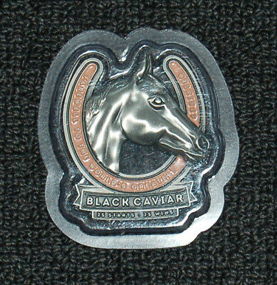 Black Caviar Horse Racing Retirement Commemorative Horse Shoe Medallion 25 Wins
