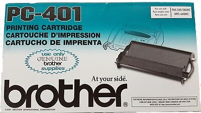 Brother Printing Cartridge PC-401 For Fax-560/580MC/MFC-660MC New In Box