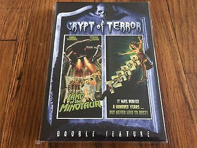 Crypt of Terror - Land of the Minotaur/Terror (DVD, 2006) BRAND NEW RARE OOP