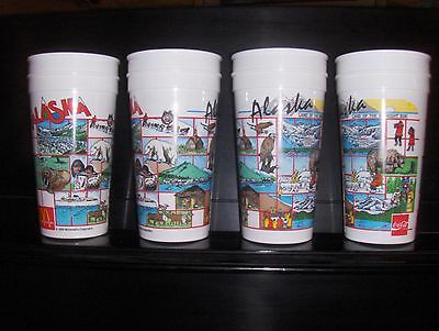 Set of 8 Collectible Alaska Coke Cups McDonald's Travel Party Favor PERFECT
