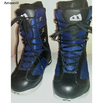 Snowboarding Snowboard Boots MORROW Men's Snow Winter Sports  Black Blue
