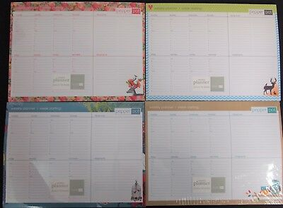 Weekly Planner 52 Sheets - 4 Designs Magnetic Organisation Office Home School