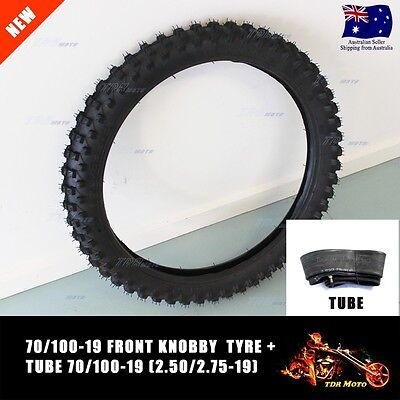 19 inch front knobby tyre with tube, 70/100-19 tire, dirt bike, pit bike, CRF