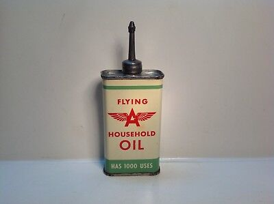 Vintage Flying A  Can Handy Oiler NOS FULL House Lead Top rare oil metal gas old