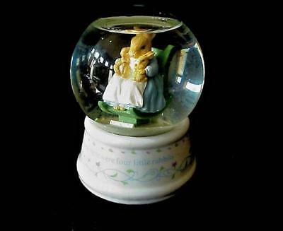 Schmid Beatrix Potter Mrs. Rabbit Snow Globe Musical Rocking Chair