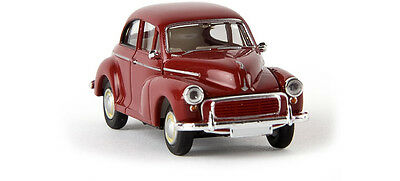 MORRIS MINOR in RED ~ FULLY ASSEMBLED HO SCALE by BREKINA