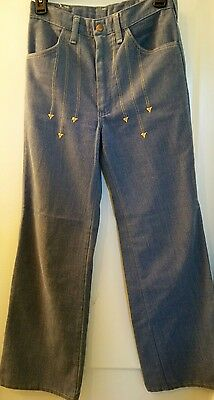 Vintage 1970s Men's 28x34 Wrangler Soft Jeans Embroidered Disco/Hippie/Boho COOL