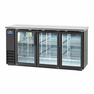 Back Bar Refrigerator, three-section, LED lighted, NSF, Arctic Air ABB72G