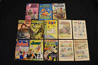 Dell Comic Silver Age Lot of 13 Jules Verne Jughead Casper Tarzan
