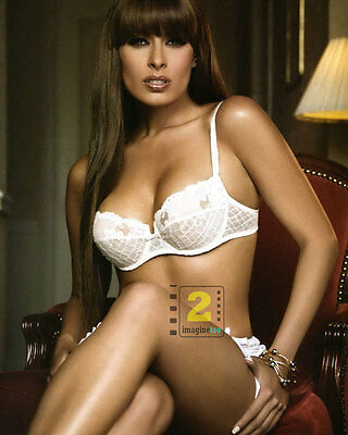 "Galilea Montijo Mexican actress 8""x 10"" Hot white lingerie Color PHOTO REPRINT"