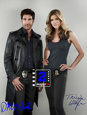 "Dylan McDermott - Tricia Helfer Signed 8""x 10"" Color PHOTO REPRINT"