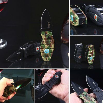 Multi Windproof Refillable Butane Gas Cigarette Lighter Folding Knife Jet Flame