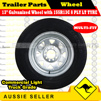 155R13C 8 PLY 13 inch Wheel Rim & Tyre Package (Multi-fit Rim) BOAT BOX TRAILERS