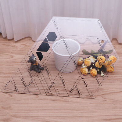 Diamond Shaped Sewing And Quilting Patchwork Ruler Measure Tool Tailor For