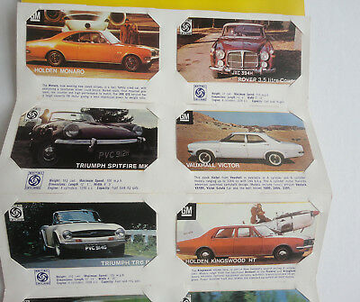'RARE' MOTOR CAR CARDS -GM & BRITISH LEYLAND- CHESDALE MOTOR SHOW folder & CARDS
