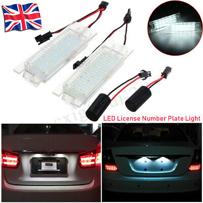 2x LED License Number Plate Light For Vauxhall Opel Corsa C D Astra H J Insignia
