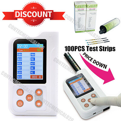 Digital Urine Analyzer 11 Parameters 100PCS Test strips Analytical BC401,USA
