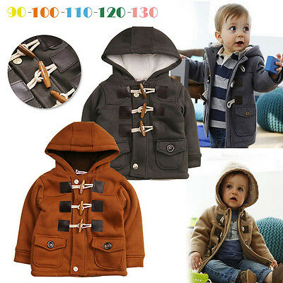 Toddler Baby Kids Girl Boy Winter Warm Coat Hooded Jacket SnowSuit Outwear Thick