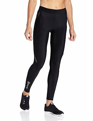 Skins A200 Women's Fitness Gym Exercise Sportswear Compression Long Tights Black