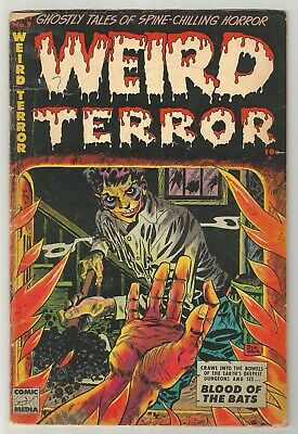 WEIRD TERROR # 7 (1953) Classic body burning in furnace cover by Don Heck!!!