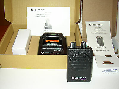 NEW MOTOROLA MINITOR V 5 UHF BAND PAGERS 453-462 MHz STORED VOICE 2-CHANNEL