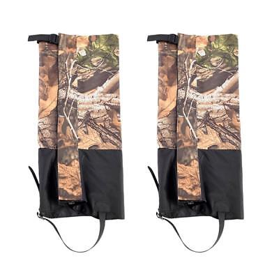 2Pcs Camo Snow Sand Legging Gaiters Boot Cover for Walking Hiking Climbing M