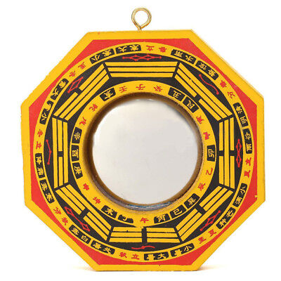 5'' Chinese Feng Shui Dent Concave Bagua Mirror Blessing Home House Protection