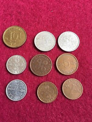 Finland Coin Collection. Nice Set Of 9 Coins